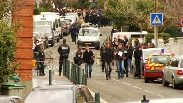 Scene of Toulouse shootings