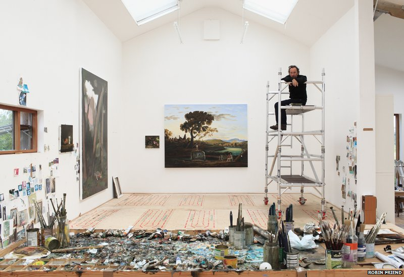 BBC News - In pictures: Britain\'s artists and their studios