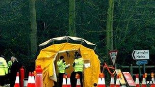 Ipswich murders scene