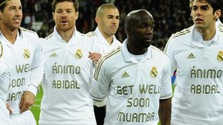 Real Madrid Muamba tribute