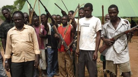 Members of the Arrow boys in South Sudan