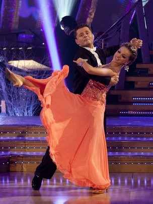 Chris Hollins and Ola Jordan in Strictly Come Dancing