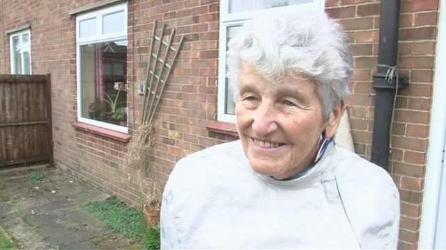 Norwich fencer Connie Adam, 84, who will carry the Olympic torch through her home city