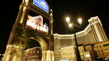 File photo of Las Vegas Sands' Venetian Resort Hotel in Macau