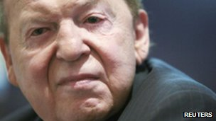 Sheldon Adelson in Hong Kong in June 2010