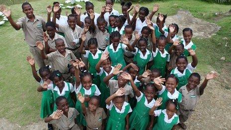 Pupils at school in Jamaica
