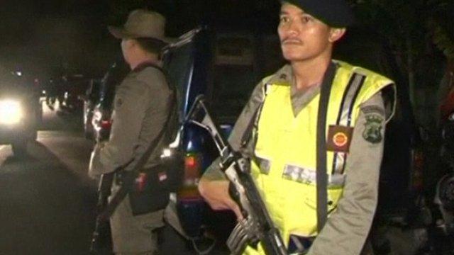 Armed police in Bali