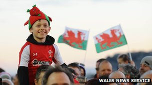 Fans at Senedd