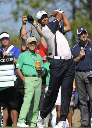Tiger Woods at the Tavistock Cup