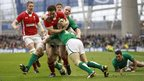 Wales wing George North replies with his side's third try against Ireland to set up a thrilling finish