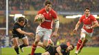 Wales wing Alex Cuthbert crashes through for his first Test try after Scotland go down to 13 men when Rory Lamont joins De Luca in the sin-bin