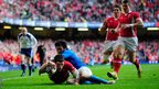 Alex Cuthbert secures victory with Wales' second try in their 24-3 win over Italy