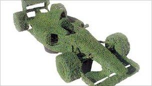 Topiary F1 car