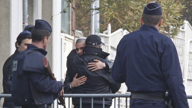Armed police in France