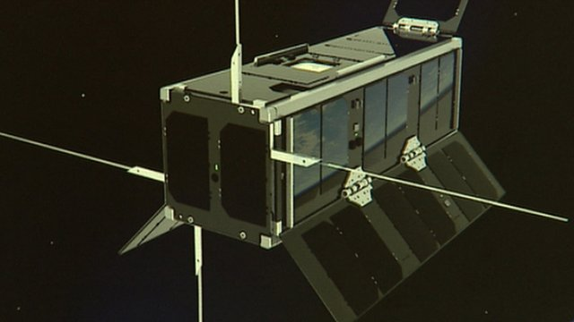 Artist's impression of UKube-1 in space