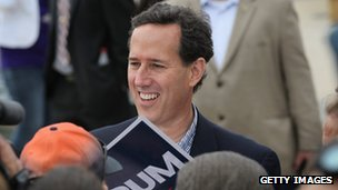 Rick Santorum among supporters