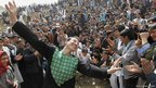 People gather to celebrate the Afghan New Year (Nawroz) in Kabul