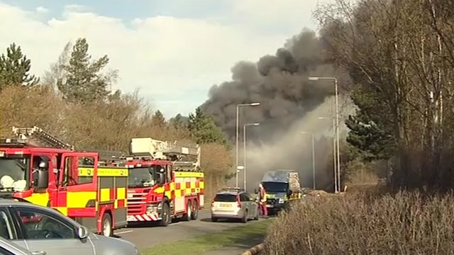 Fire on industrial estate