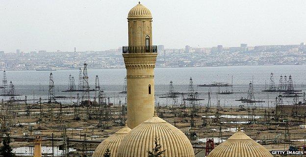 Minaret in Baku
