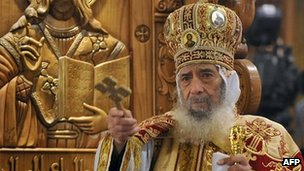Pope Shenouda III. File photo