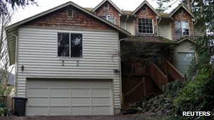 The unoccupied Bonney Lake, Washington state home of US Army Staff Sgt Robert Bales, suspected of killing 16 Afghan civilians on 11 March