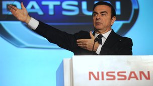Nissan's chief executive Carlos Ghosn announces the return of the Datsun marque