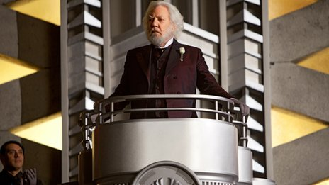 Donald Sutherland stars as President Snow in The Hunger Games. Photo credit: Murray Close