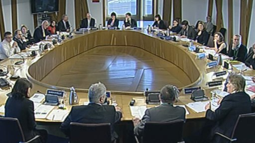 The committee took evidence in a round table discussion on human trafficking