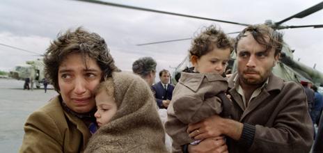 Refugees flee Nagorny-Karabakh