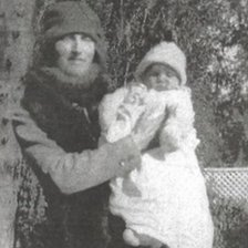 Sheila Thorn in her mother's arms