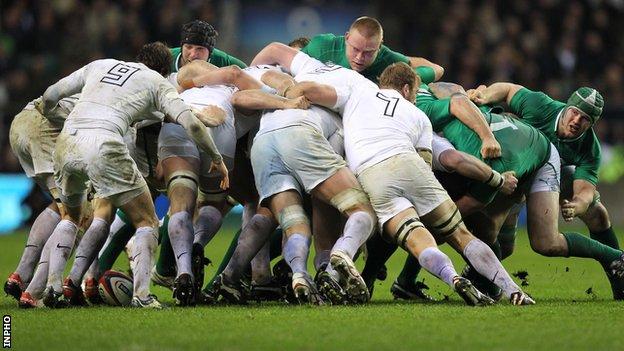 Ireland's scrum disintegrated against England on Saturday