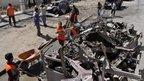 Bomb wreckage in Ramadi, Iraq (20 March 2012)