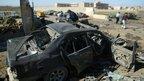 Car bomb scene in Kirkuk (20 March 2012)