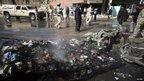 Bomb scene in Kerbala (20 March 2012)