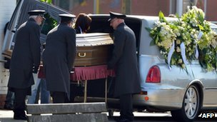 The first funeral was held in Lommel on Tuesday