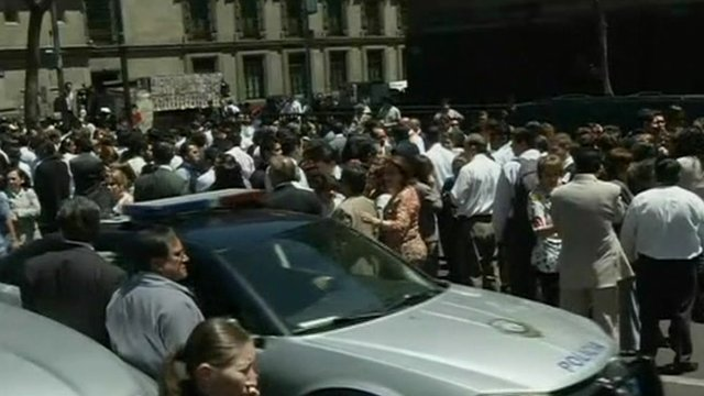 Residents on streets of Mexico following earthquake