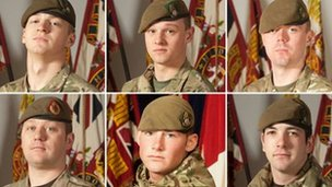 The six soldiers killed in Helmand