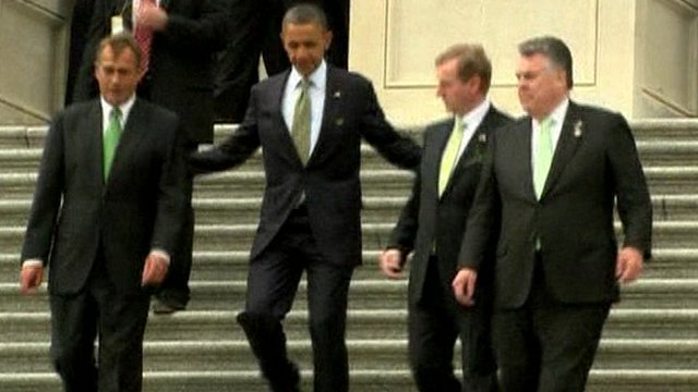 BBC News - Obama welcomes Irish MP Kenny to the White House