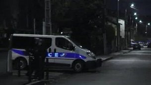 Police seal off street in Croix-Daurade district of Toulouse