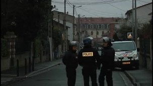 Police seal off streets in Toulouse