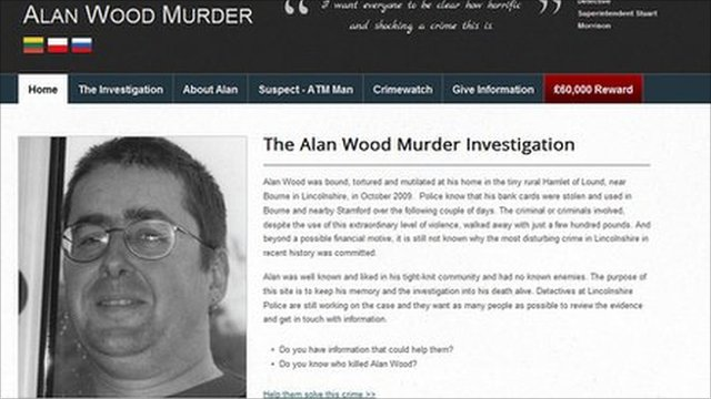 Alan Wood murder investigation website