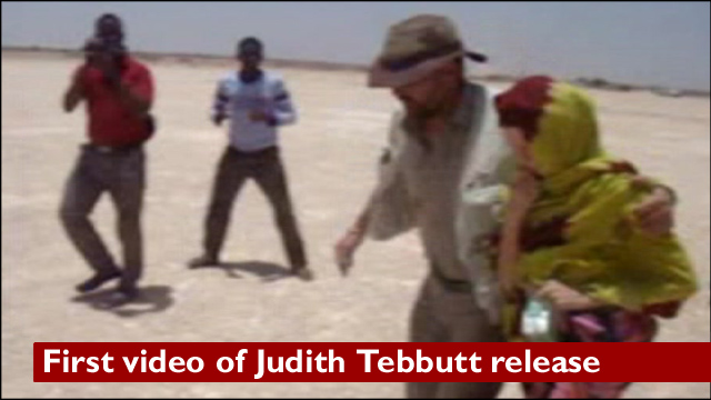 Judith Tebbutt led to aeroplane in Somalia