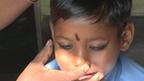 Suraj gets ready for school