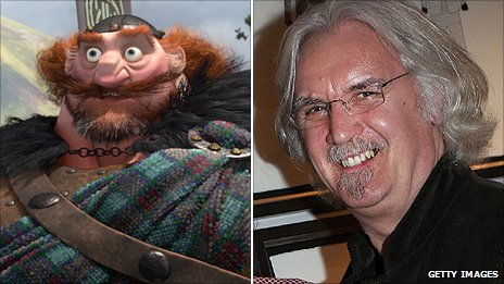 Billy Connolly (right) voices King Fergus