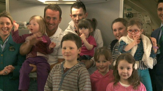 Graeme McDowell with children from the Gmac Foundation