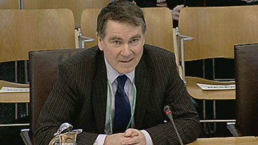Jim MacKay of SEPA gives evidence to the Economy, Energy and Tourism Committee