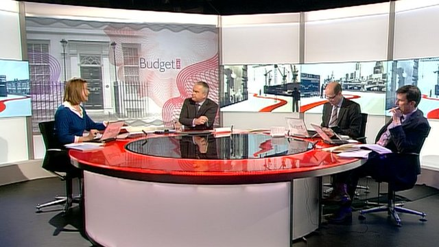 Stephanie Flanders, Huw Edwards, Nick Robinson and Robert Peston