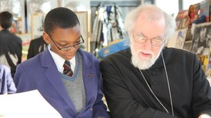 Dr Rowan Williams and pupil