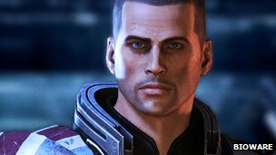 A character from Mass Effect 3