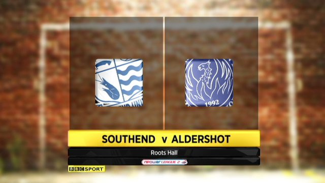 Highlights - Southend 0-1 Aldershot